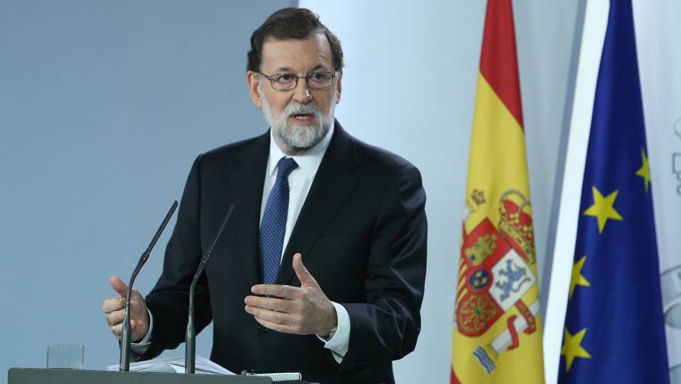 Rajoy anuncia la destitución de todo el Gobierno catalán