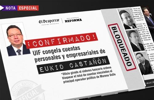 ¡Confirmado! UIF congela cuentas personales y empresariales de Eukid Castañón