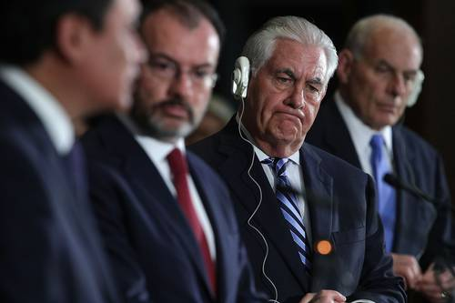 Consumo de drogas en EU, raíz de la violencia: Tillerson