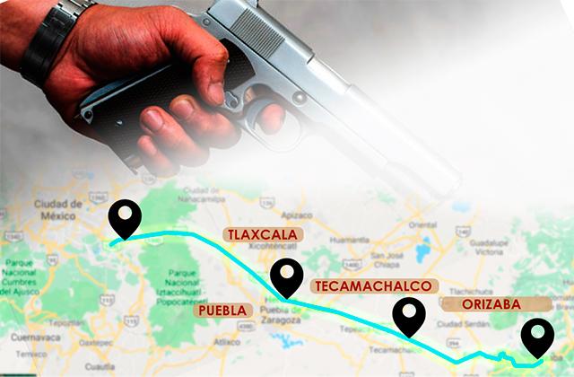 Cárteles hacen de autopista Puebla-Veracruz la más peligrosa del país