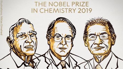 El premio Nobel de Química 2019 es para el desarrollo de baterías de iones de litio