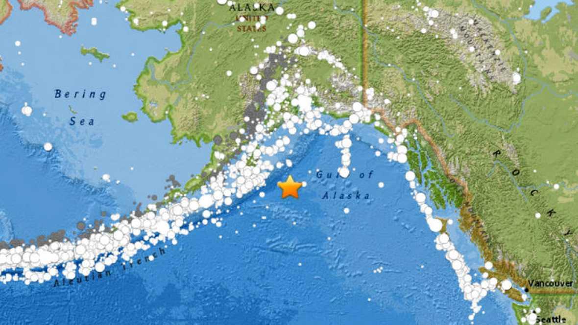 Alerta de tsunami en el Pac�fico por un terremoto de 7,9 en Alaska