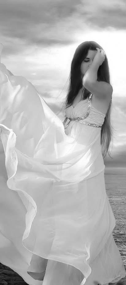 Mujer vestida de blanco que significa